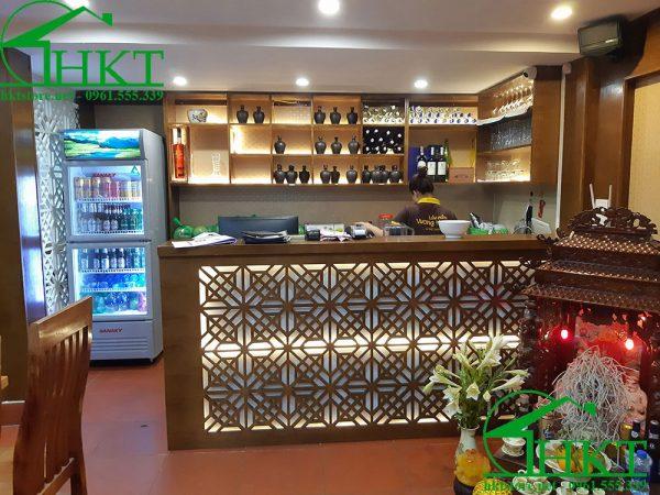 quay bar nha hang lau nam 600x450 - Báo giá thi công đồ gỗ, nhận thi công nội thất Hà Nội