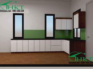 Mẫu tủ bếp hiện đại TB2