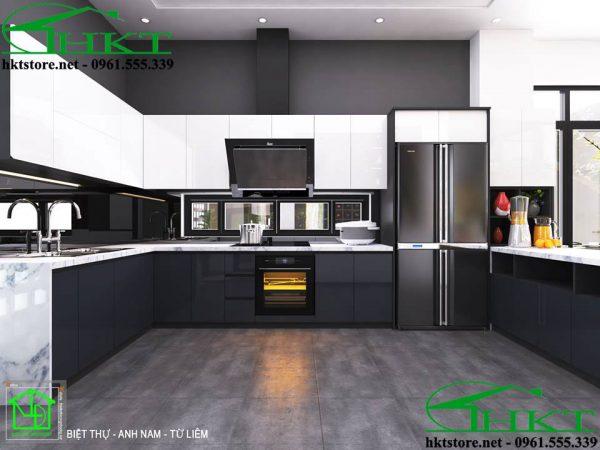 Mẫu tủ bếp Acrylic giá rẻ TB13