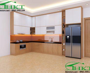 Mẫu tủ bếp gỗ hiện đại TB10