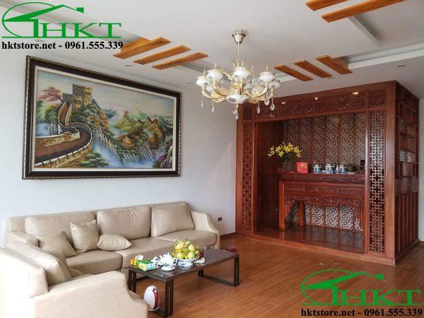 phong khach va phong tho 600x450 - Báo giá thi công đồ gỗ, nhận thi công nội thất Hà Nội