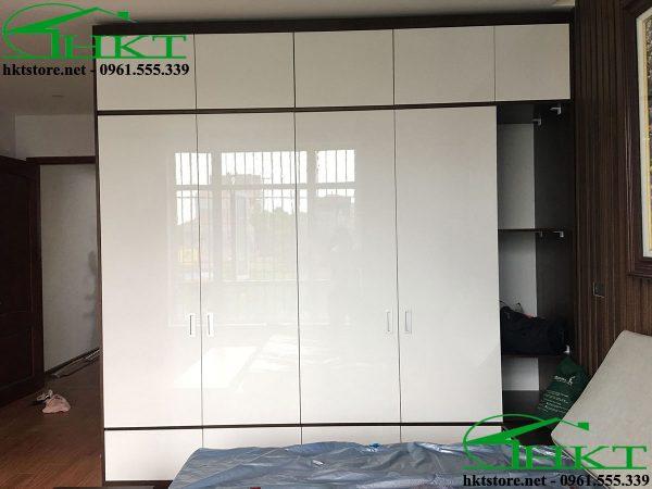tu quan ao canh acrylic 600x450 - Báo giá thi công đồ gỗ, nhận thi công nội thất Hà Nội