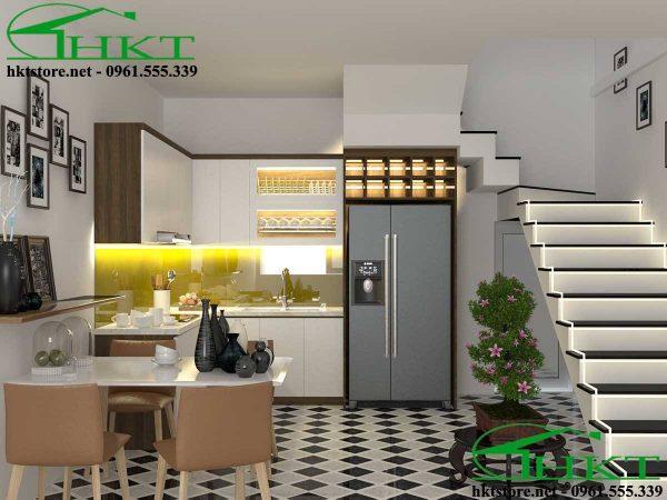 Thiết kế thi công tủ bếp gỗ công nghiệp TB17