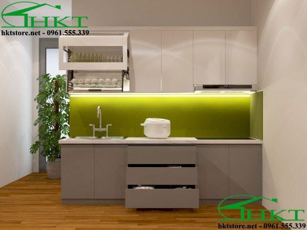 Thiết kế tủ bếp gỗ hiện đại tại Thái Nguyên TB19