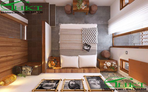 thiet ke noi that hien dai 600x375 - Thiết kế nội thất bungalow tại Sapa đẹp