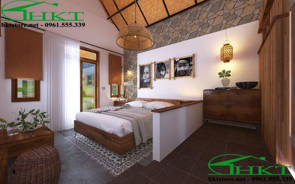 thiet ke phong ngu dep 600x375 - Thiết kế nội thất bungalow tại Sapa đẹp