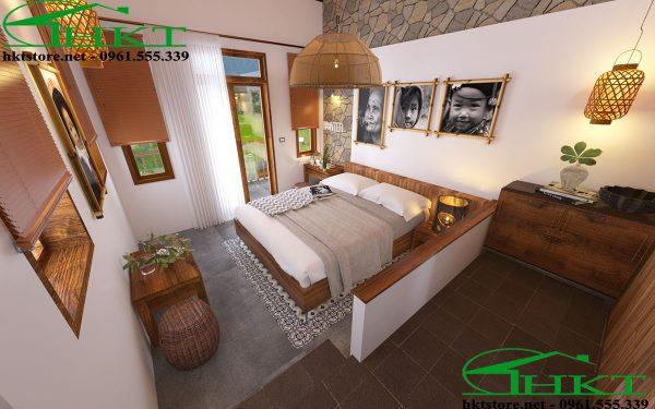 thiet ke thi cong bungalow 600x375 - Thiết kế nội thất bungalow tại Sapa đẹp