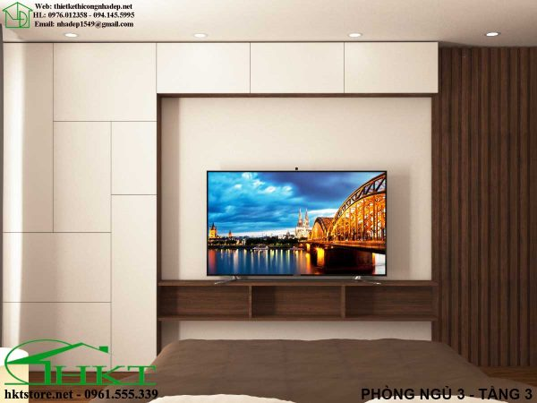 ke tivi phong ngu MPN10 600x450 - Thiết kế nội thất phòng ngủ, báo giá phòng ngủ MPN10