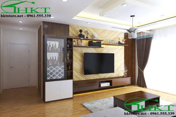mau ke tivi dep KTV1 600x400 - Mẫu thiết kế kệ tivi phòng khách KTV1