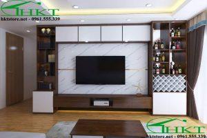Mẫu thiết kế kệ tivi phòng khách đẹp KTV1