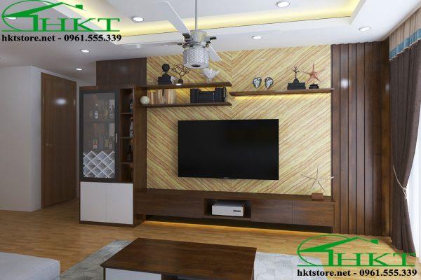 thiet ke ke tivi dep KTV1 600x400 - Mẫu thiết kế kệ tivi phòng khách KTV1