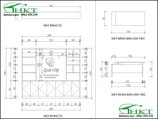 ban ve gia sach GS1 600x450 - Đóng giá sách gỗ công nghiệp hiện đại GS1