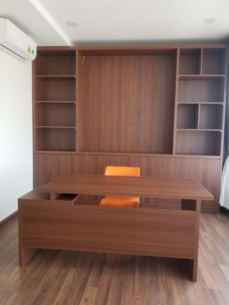 gia sach dep GS1 450x600 - Đóng giá sách gỗ công nghiệp hiện đại GS1
