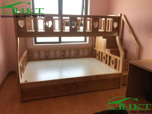 hinh anh thuc te giuong tang MPN10 600x450 - Mẫu thiết kế giường tầng cho bé gỗ tần bì MPN10