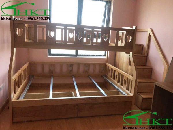 mau giuong tang dep MPN10 600x450 - Mẫu thiết kế giường tầng cho bé gỗ tần bì MPN10
