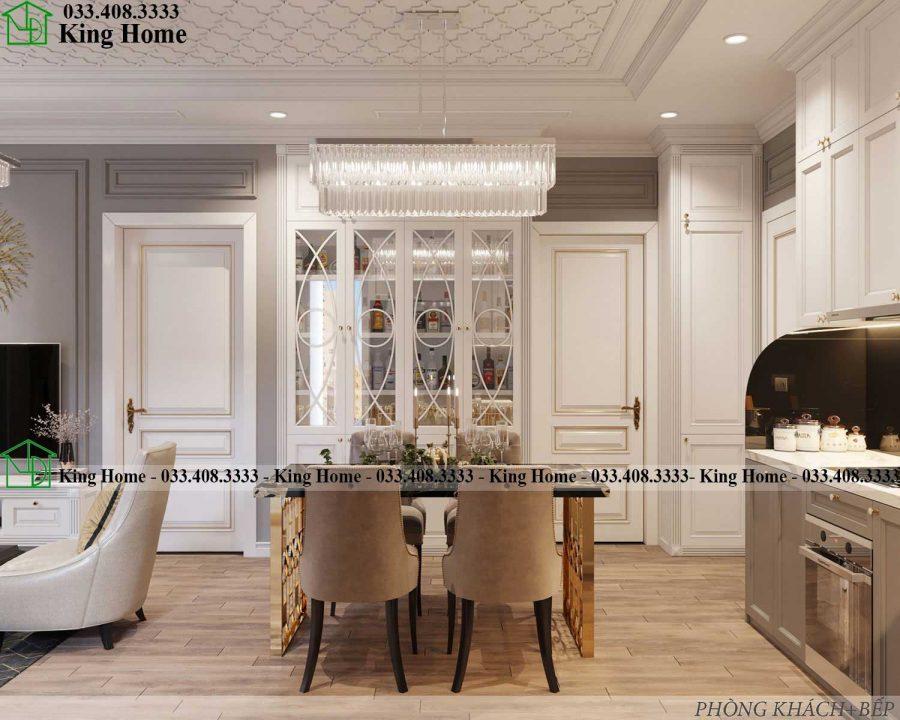 ban ghe an chung cu KHCC1 900x720 - Thiết kế thi công nội thất chung cư tân cổ điển EcoPark KHCC1