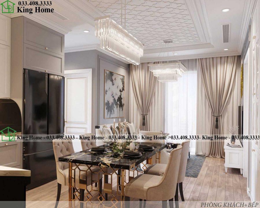 ban ghe an chung cu dep 900x720 - Thiết kế thi công nội thất chung cư tân cổ điển EcoPark KHCC1