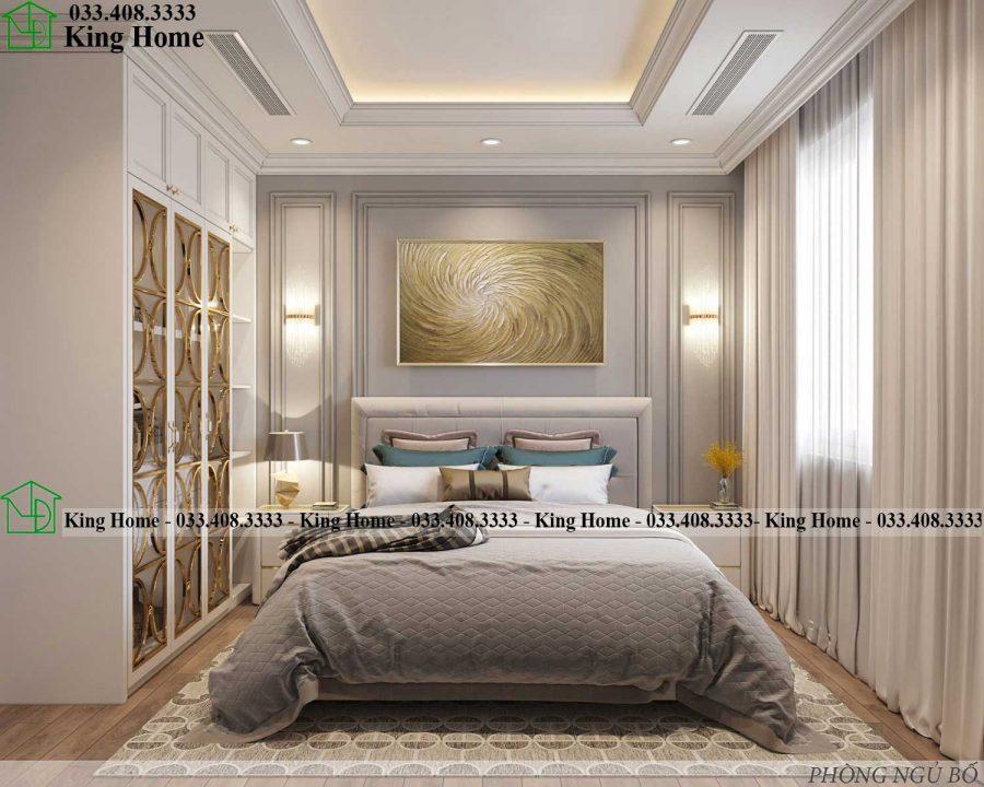 noi that phong ngu 1 chung cu tan co dien KHCC1 2 900x720 - Thiết kế thi công nội thất chung cư tân cổ điển EcoPark KHCC1