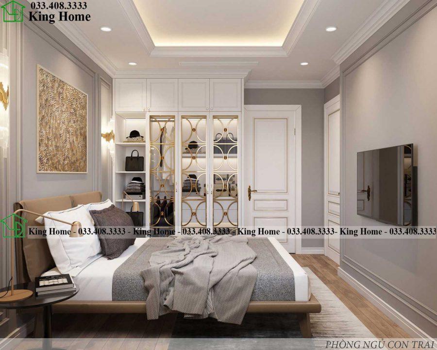 noi that phong ngu 1 chung cu tan co dien KHCC1 900x720 - Thiết kế thi công nội thất chung cư tân cổ điển EcoPark KHCC1