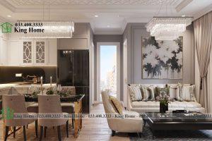 Thiết kế thi công nội thất chung cư tân cổ điển EcoPark KHCC1